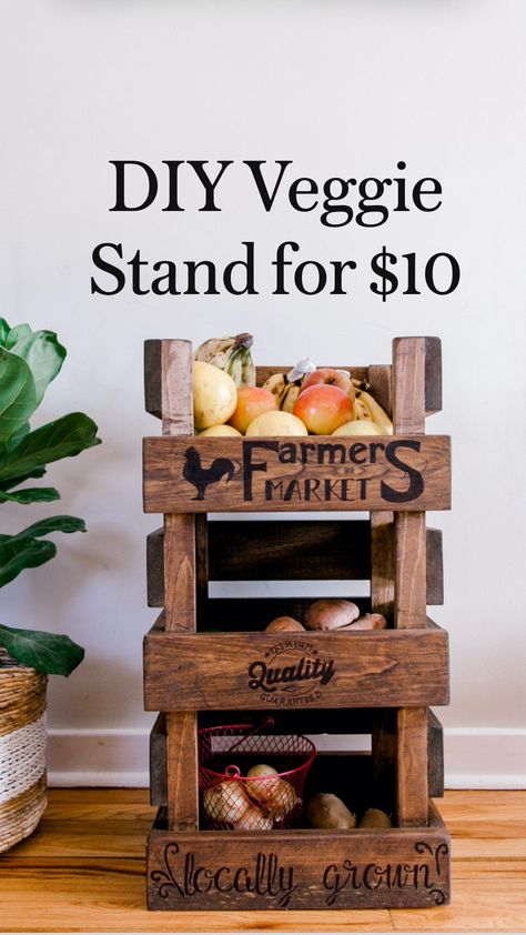 DIY Veggie Stand for $10