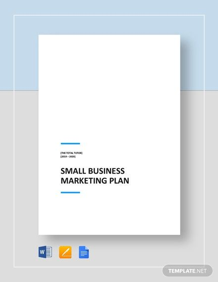 Small Business Marketing Plan Template Word Doc Google Docs Small Business Marketing Plan Business Marketing Plan Marketing Plan Template