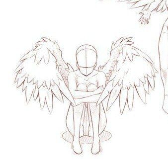 картинки для срисовки ангел