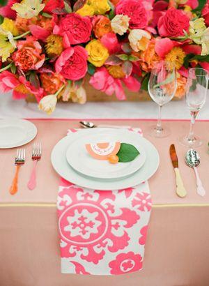patterned napkins | KT Merry #wedding