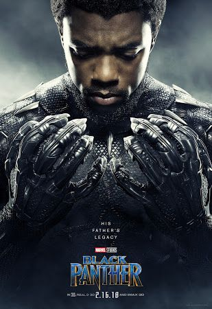 Poster Of Black Panther 2018 In Hindi Bluray 720p Free Download