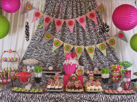 Zebra Sweet 16 DIY Party Printables Package by CreativeStationery, $24.99