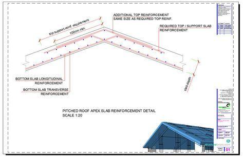 Reinforced Concrete Sloped Roof Slab Overhang Detail Pitched Roof Concrete Stairs Roof Detail