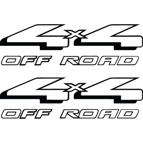 Set of 1999 Ford F250 F350 Super Duty 4x4 Off Road Decals Graphics Bed Stickers