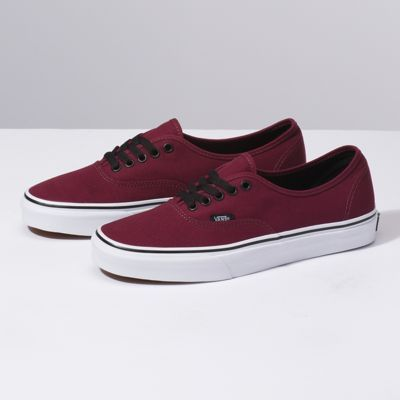 Authentic Shop Shoes Maroon Vans Sneakers Burgundy Vans