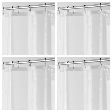 Mdesign Long Peva Shower Curtain Liner For Bath 72 X 84 Clear
