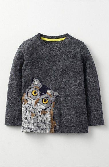 Animal Sewn Long Sleeve T-Shirt in Charcoal Marl