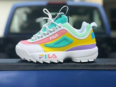 Custom Multi-Colored Fila Disruptor II in 2021   Custom nike shoes ...