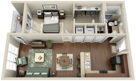 under 500 sq ft house plans - Google Search tiny house Pinterest
