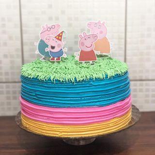 Peppa Pig E Sua Familia Instacake Cakestagram