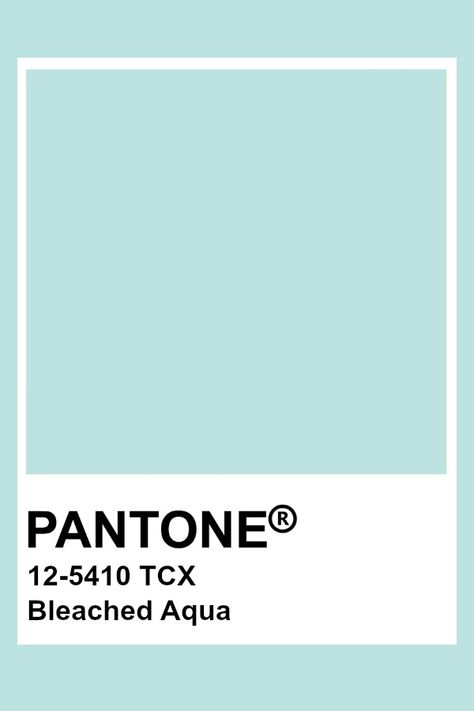 Pantone Bleached Aqua