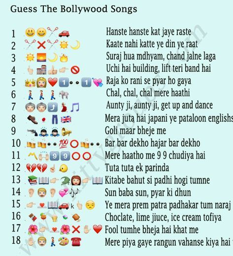 Whatsapp Puzzle Guess The Bollywood Songs Ladies Kitty Party Games Kitty Party Themes Kitty Party Games We'll start out with an easy one. whatsapp puzzle guess the bollywood
