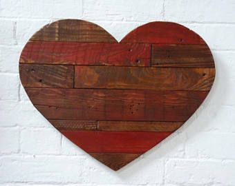 Rustic Red Heart Wall Art Shabby Chic Heart Rustic Heart Heart