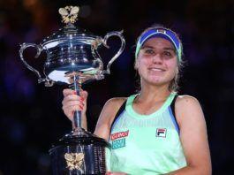 Sofia Kenin Wins First Grand Slam Title After Beating Garbine Muguruza In The Australian Open Final In 2020 Garbine Muguruza Muguruza Grand Slam