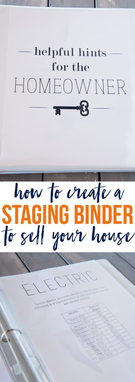 How to create a staging binder to help sell your house