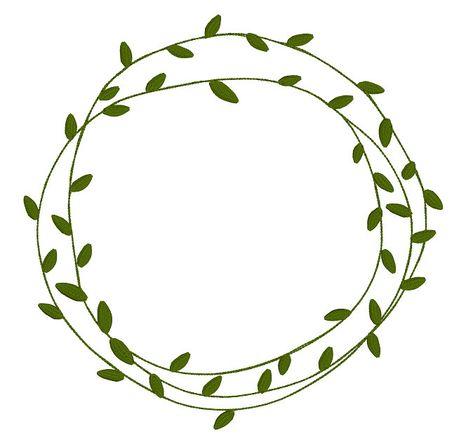 Custom Natural Leaf Frame Simple Leafy Frames Doodles Rustic   Etsy
