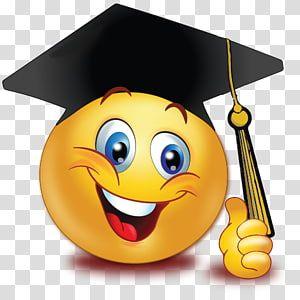 Graduation Ceremony Emoticon Smiley Emoji Graduate University Smiley Transparent Background Png Clipart In 2020 Cute Emoji Wallpaper Emoticon Smiley