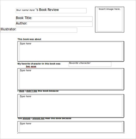Sample Book Review Template 10 Free Documents In Pdf