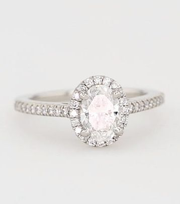 Oval Halo Diamond Engagement Ring by Blue Nile.