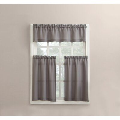 Winston Porter Wolfville 54 Kitchen Curtain In 2020 Curtains