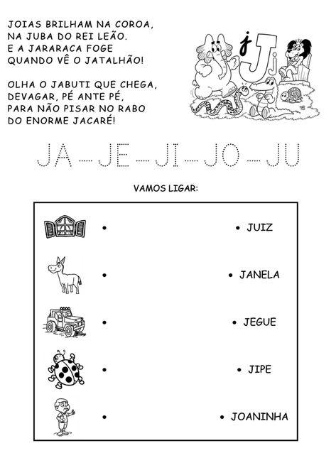 30 Atividades Com Ja Je Ji Jo Ju Para Imprimir Em 2020 Com
