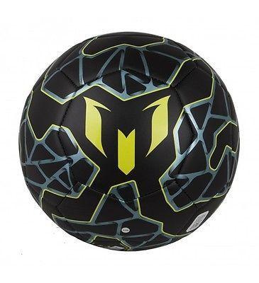 ADIDAS MESSI Q3 SOCCER BALL SIZE 5 Black / Bright Yellow / Matt Ice Met.