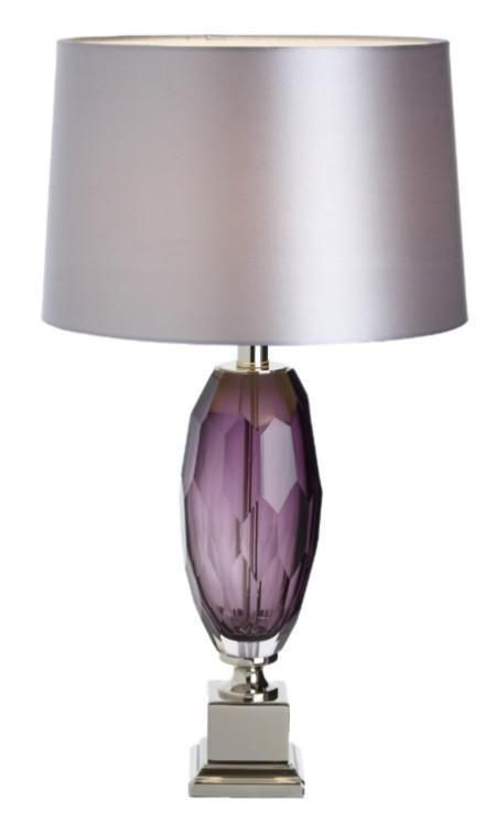 Abril Purple Glass Table Lamp Base Only From Homelia Material Glass All Product Dimensions And Sizes Available On Site E Table Lamp Base Purple Lamp Lamp