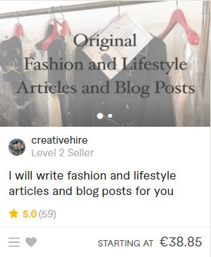 I will write fashion and lifestyle articles and blog posts for you - Fiverr