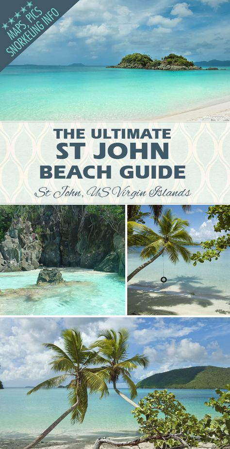 Discover all of St Johns beautiful beaches Maps tips snorkeling info and Vacation Places, Dream Vacations, Vacation Spots, Places To Travel, Travel Destinations, Maui Vacation, Vacation Packing, Italy Vacation, St Thomas Virgin Islands