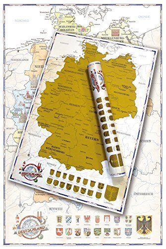 Deutschland Karte Zum Rubbeln Rubbelkarte Poster Ca 1 1 Mio
