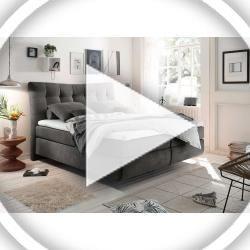 Boxspringbett In Anthrazitfarbenem Webstoff 4 Gang Bonell Federkern Box Tonnentaschen Federkern In In 2020 Home Decor Diy Room Decor Room Decor Bedroom