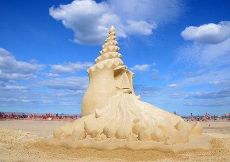 15-й ежегодный международный конкурс песчаных скульптур в Хэмптон-Бич