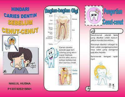 Senyum Gigi Sehat Leaflet Gigi Berlubang Gigi Promosi Kesehatan Kesehatan