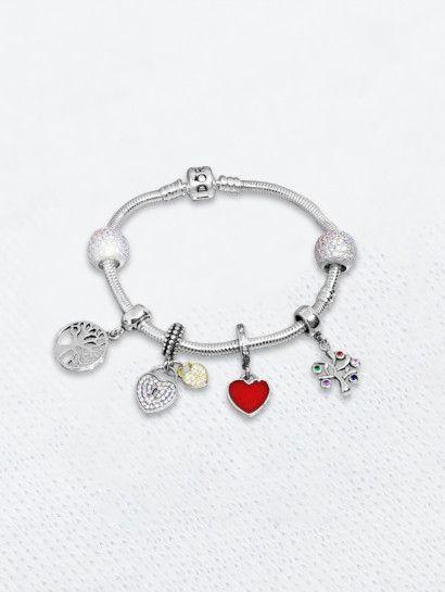 باندورا فضة عيار 925 باندورا فضة ايطالى وان سايز Jewelery Pandora Charms Charm Bracelet
