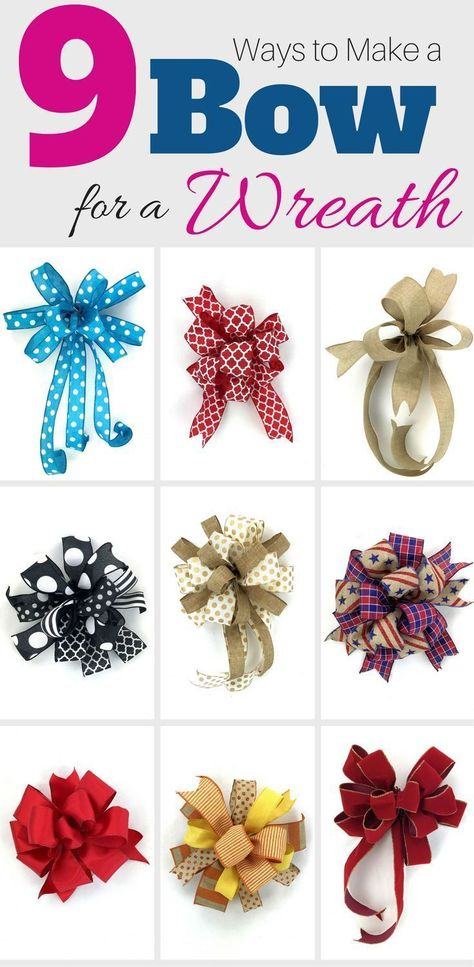 In this free video Im teaching you how to make a bow 9 different ways varying in easy peasy to a little more challenging. But with practice you will be making a bow for wreaths (or garlands mailboxes packages etc.) in no time.Preheat your oven to 275 Wreath Crafts, Diy Wreath, Diy Crafts, Wreath Bows, Wreath Ideas, Make A Wreath Bow, Snowman Wreath, Homemade Crafts, Homemade Bows