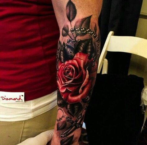 Tattoos, cover up tattoos for men, rose tattoos for men, full arm tatto