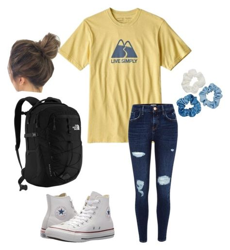 A fashion look from March 2018 by featuring River Island, Converse, The North Face and Mudd Middle School Outfits, Summer School Outfits, Cute Comfy Outfits, Lazy Outfits, Cute Outfits For School, Outfits With Converse, Teen Fashion Outfits, Preppy Outfits, Outfits For Teens