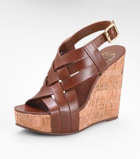 great summer sandal!!// Tory Burch ace HIGH WEDGE SANDAL