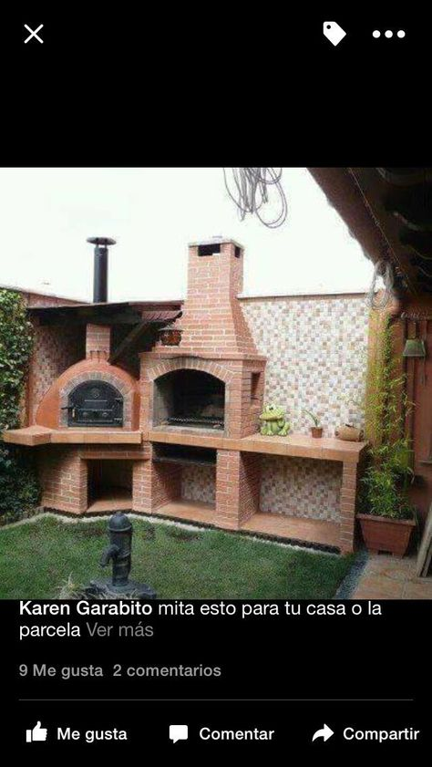 #asado  #chica  #con  #horno  #idea  #para  #parrilla  #patio #Idea #para #patio  Idea para patio chica con parrilla para asado y horno