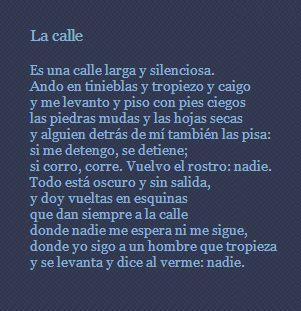 La Calle Poema De Octavio Paz Octavio Paz Poemas Frases Octavio Paz Frases De Inspiracion