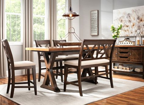 Fantastic Wexford 6 Pc Counter Height Dining Set W Bench Dining Creativecarmelina Interior Chair Design Creativecarmelinacom