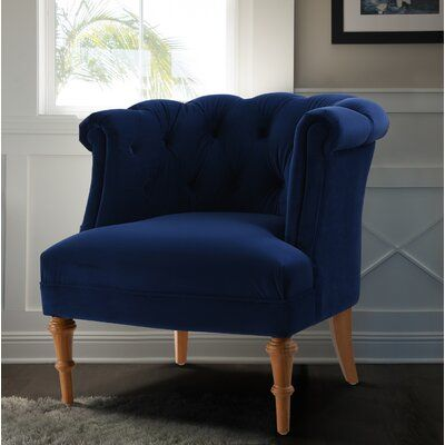 Constantine 19 5 Slipper Chair Fabric Navy Blue 100 Polyester