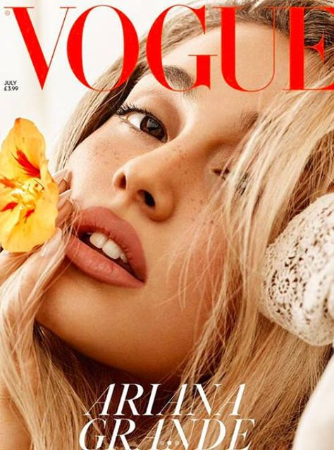 Edward Enninful continues to make his mark on British Vogue and gives Ariana Grande her very first Vogue cover appearance for the magazine's July 2018 edition. Photographed by Craig McDean and styled by Kate Phelan. Vogue Covers, Vogue Magazine Covers, Fashion Magazine Cover, Vogue Uk, Vogue Russia, Ariana Grande Photoshoot, Ariana Grande Cover, Vogue Photography, Editorial Photography