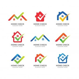 Home Logo Template With Check Mark Logo For Real Estate Agency Check Home Symbol Design Logo Templates Symbol Design Home Symbol