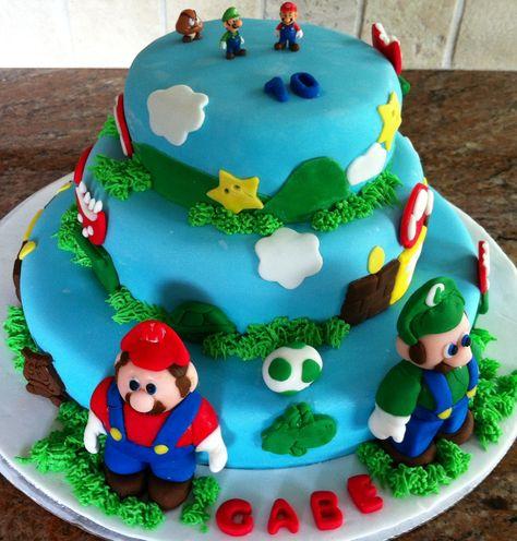 Super Mario Birthday Cake... for my 10 year old grandson ❤