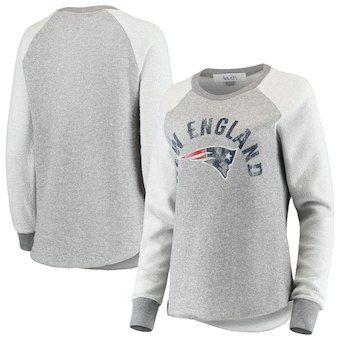 New England Patriots Touch by Alyssa Milano Women s Gridiron Pullover  Raglan Sweatshirt – Charcoal 567e5f80c