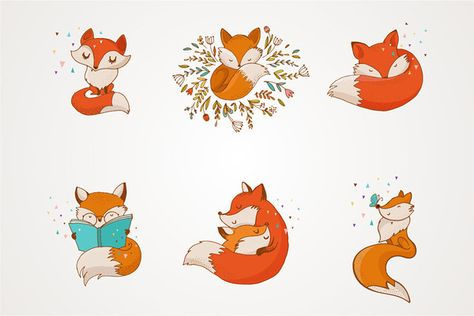 Fox - cute characters - Illustrations - 1