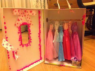 Diy Barbie Doll Closet Barbie Dolls Diy Diy Barbie Furniture Barbie Doll Accessories