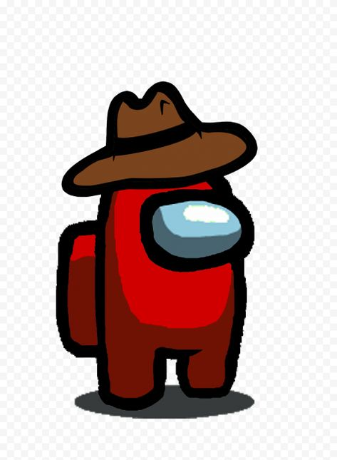 Hd Red Among Us Character With Cowboy Hat Png In 2020 Character Cowboy Hats Png