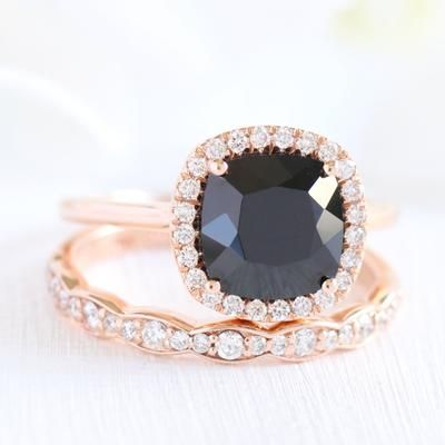 Looking For A Best Black Diamond Alternative Ring Black Spinel Engagement Rings Will Be The Perfect Choi Black Spinel Ring Bridal Ring Sets Black Diamond Ring